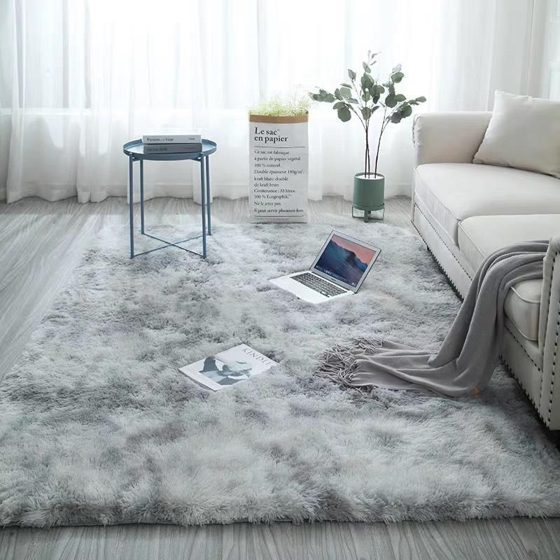 European Long Hair Area Rug Carpet Bedroom Bay Window Bedside Mat Washable Blanket In 2020 Furry Rugs Soft Carpet Rugs In Living Room