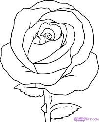Google Image Result For Http Www Dragoart Com Tuts Pics 9 3845 16659 How To Draw A Simple Rose Step 7 Jpg Bunga Bunga Kertas Siluet