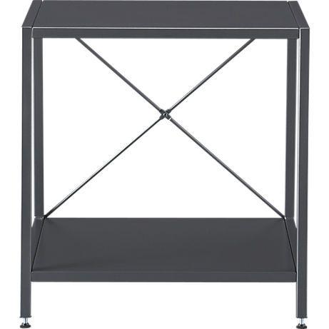 Best Harvey Carbon Grey Nightstand Cb2 Gray Nightstand 400 x 300