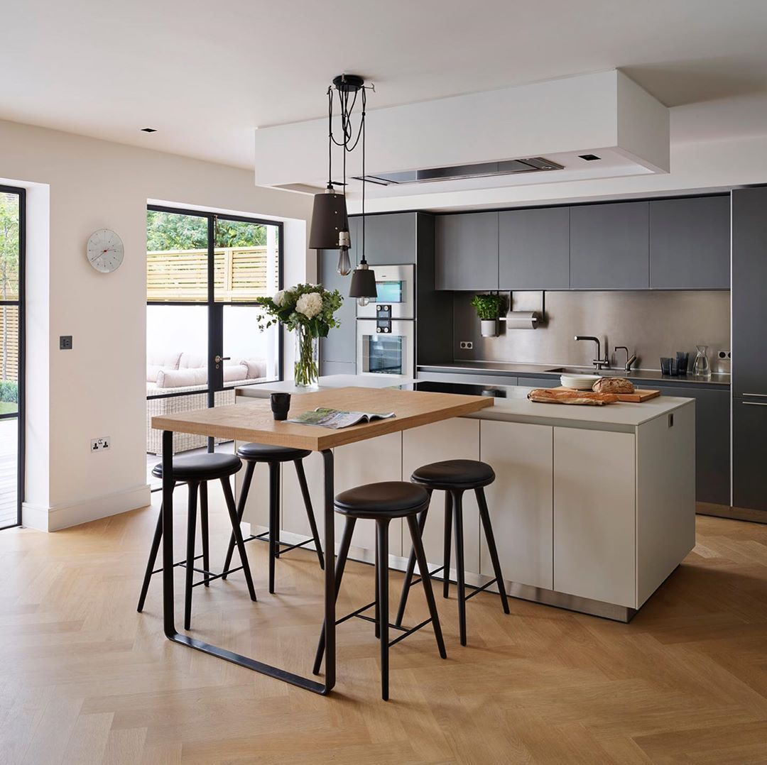 Timeless Living bulthaup b9 furniture in grey aluminium and ...