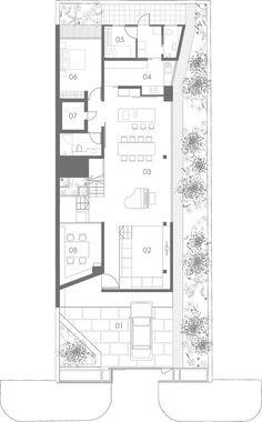 Casa Con Terraza Planta Nivel 01 Arquitectonica Planos