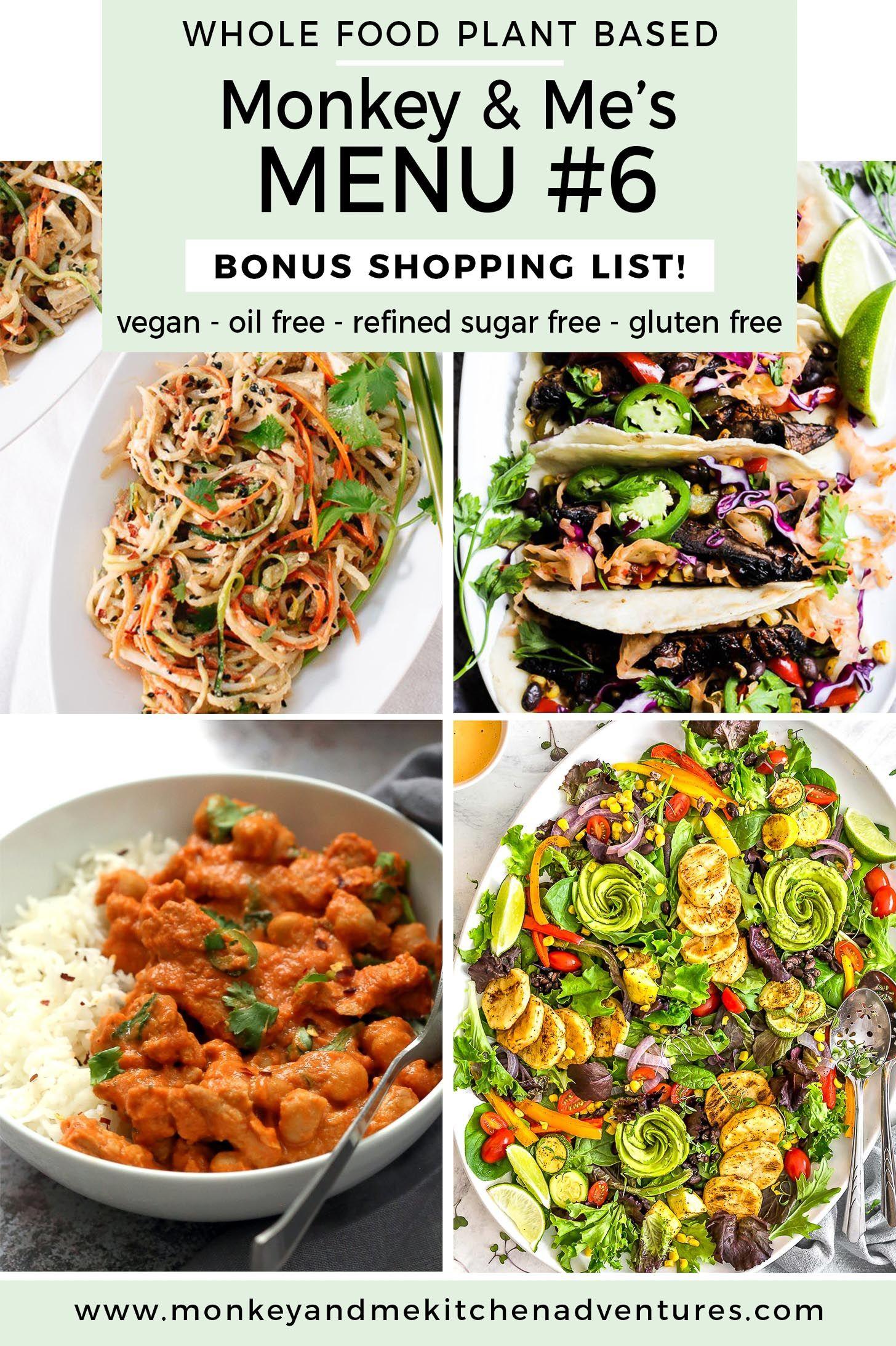 menu plant based diet