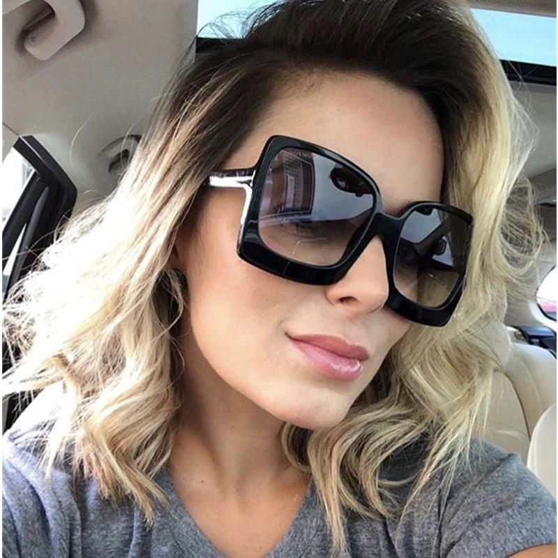 c6672e2660cb HBK Ladies Square Sunglasses 2019 New Style Sun Glasses Brand Design W –  KOREAIDOLFEVER