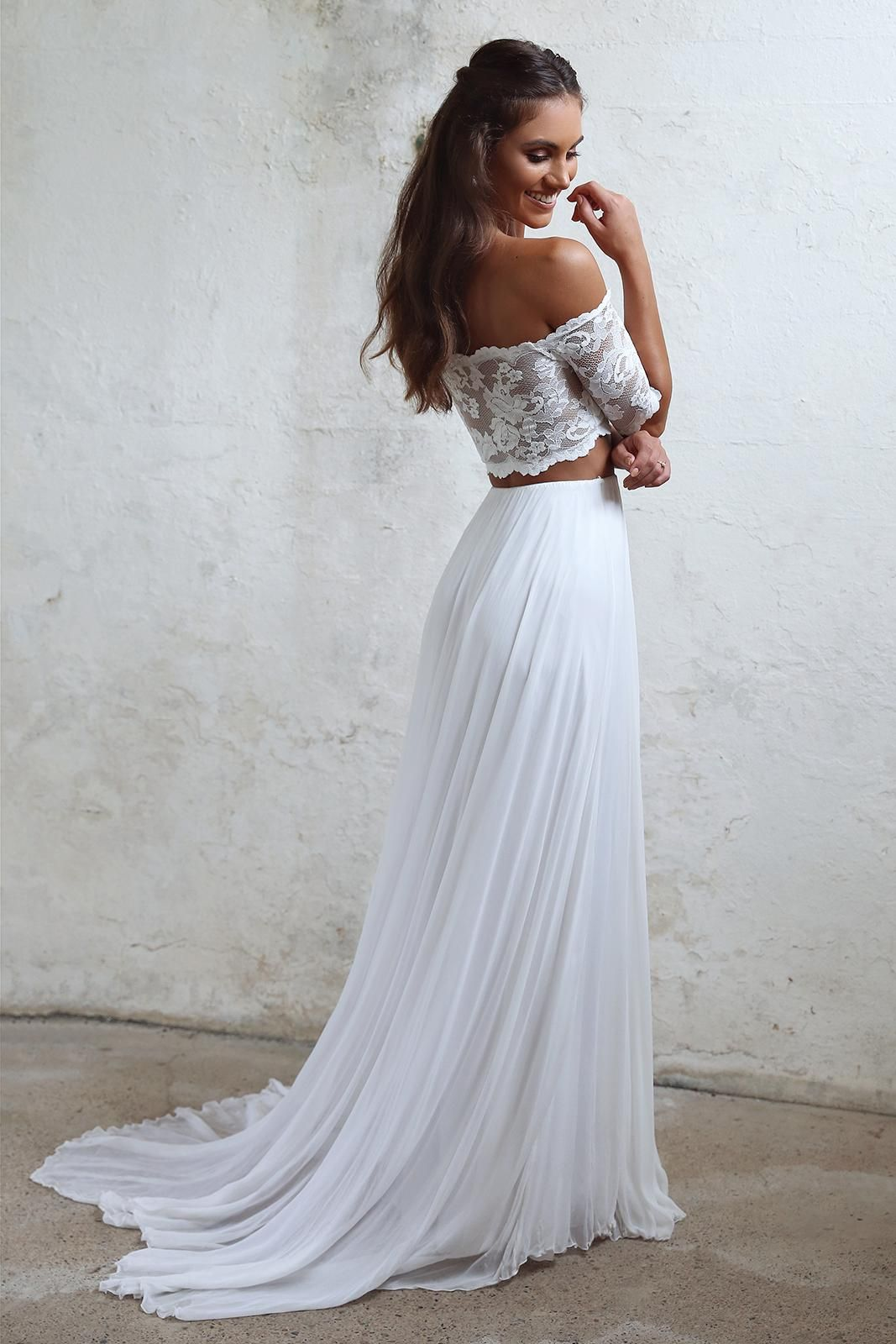 Luna Lace Crop Tops French Lace And Wedding Dress