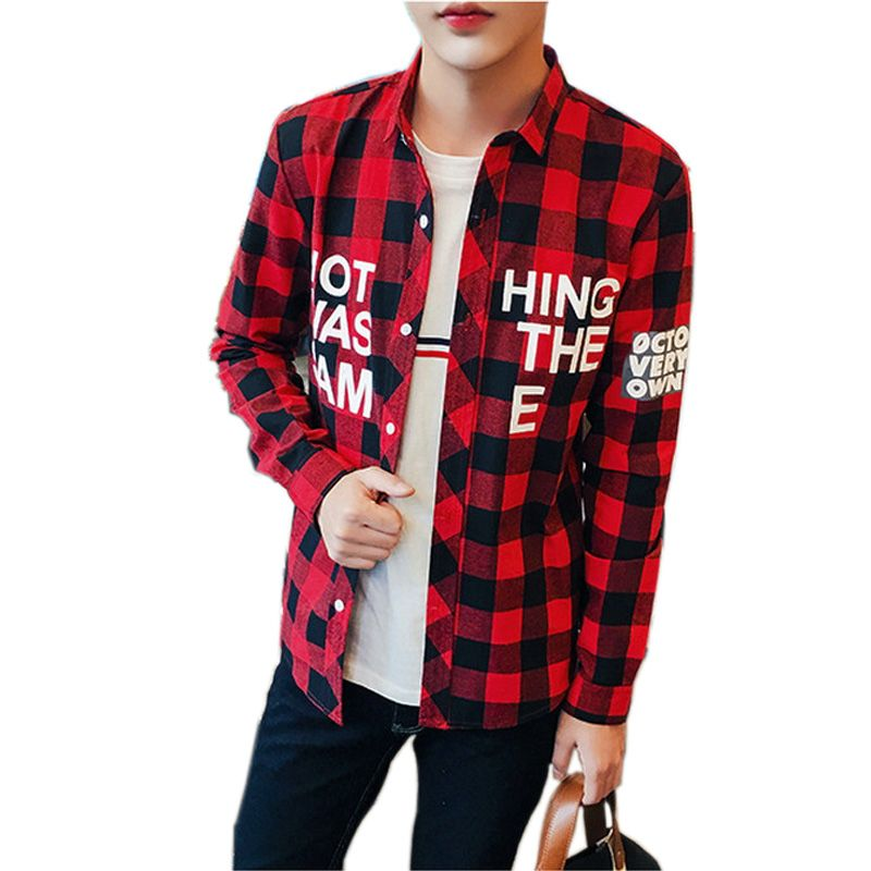spring and autumn large size men shirt long sleeve shirt on men s insulated coveralls cheap id=45862