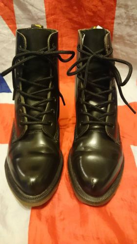 ecfcf3aa1 Rare-Vintage-England-Pointed-Toe-Black-Dr-Doc-Martens -Goth-Victorian-Steampunk-3