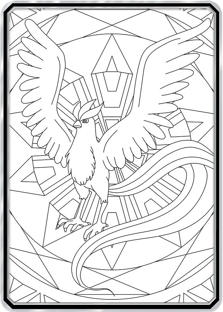 Color Me Articuno Custom Pokemon Coloring Card Pokemon Coloring Pages Pokemon Coloring Articuno Pokemon