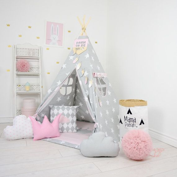 tipi set kids play tente tipi kid play tipi enfant par mamapotrafi pinterest. Black Bedroom Furniture Sets. Home Design Ideas