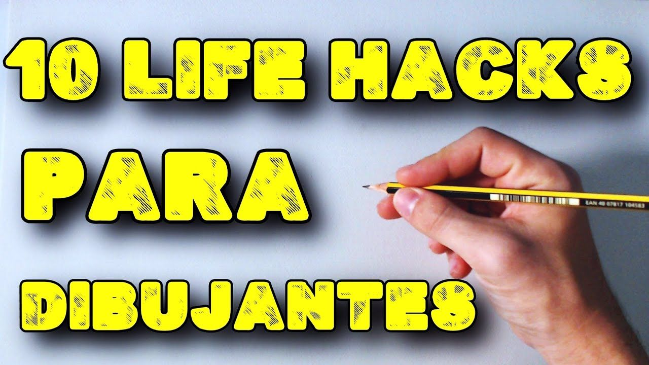 10 Life Hacks Para Dibujantes Principiantes English Subtitles Cc 10 Videos De Como Dibujar Hacks Dibujo Facil