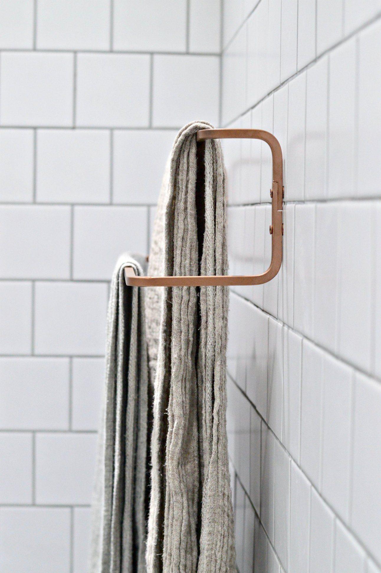 10 Minute Diy Ikea Towel Rail Hack Ikea Towels Ikea Towel Rail