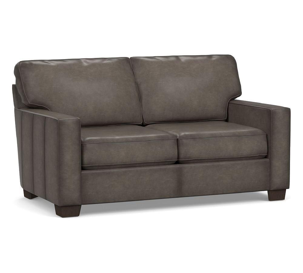 Buchanan Square Arm Leather Sofa