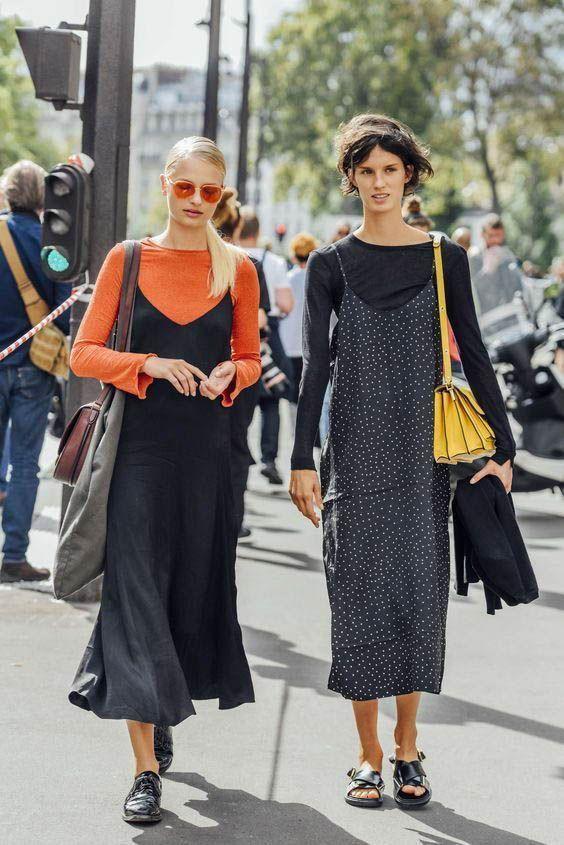 Slip Dress  Street style fashion  fashion week  Pinterest fromluxewithlove 353954851963517467