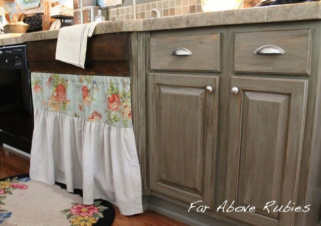 Gray gel stain on my honey colored cabinets? # ...