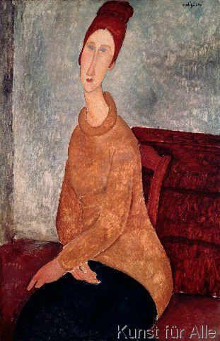 Amedeo Modigliani - Jeanne Hebuterne in a Yellow Jumper, 1918-19