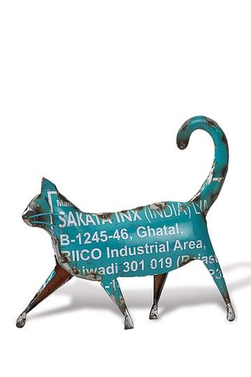 Blue Recycled Walking Cat by Foreside Home & Garden on @HauteLook