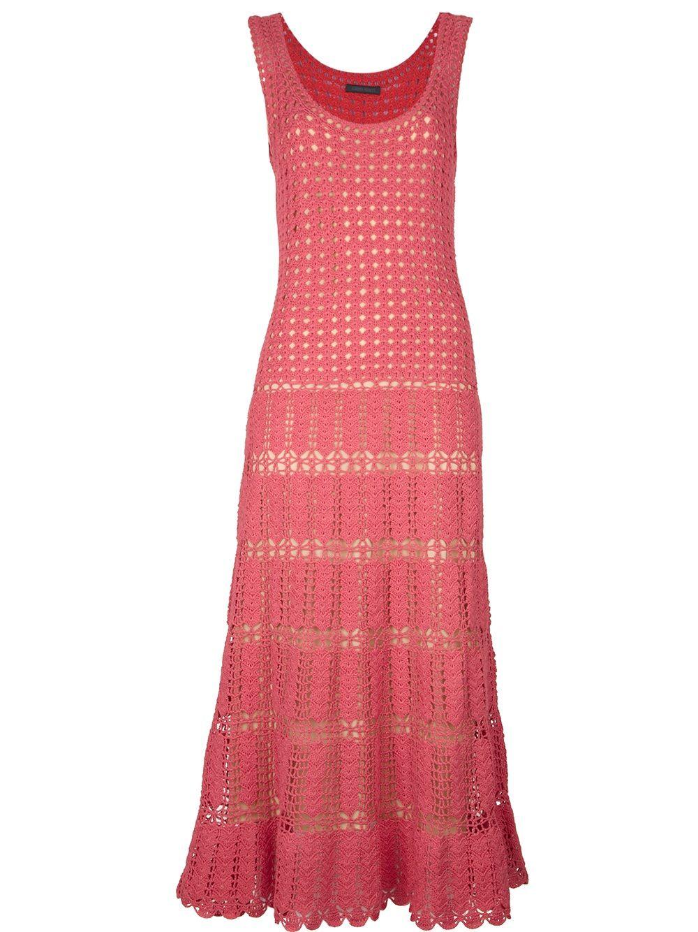 Crochetemoda: Vestido rosa de ganchillo | kleider | Pinterest ...