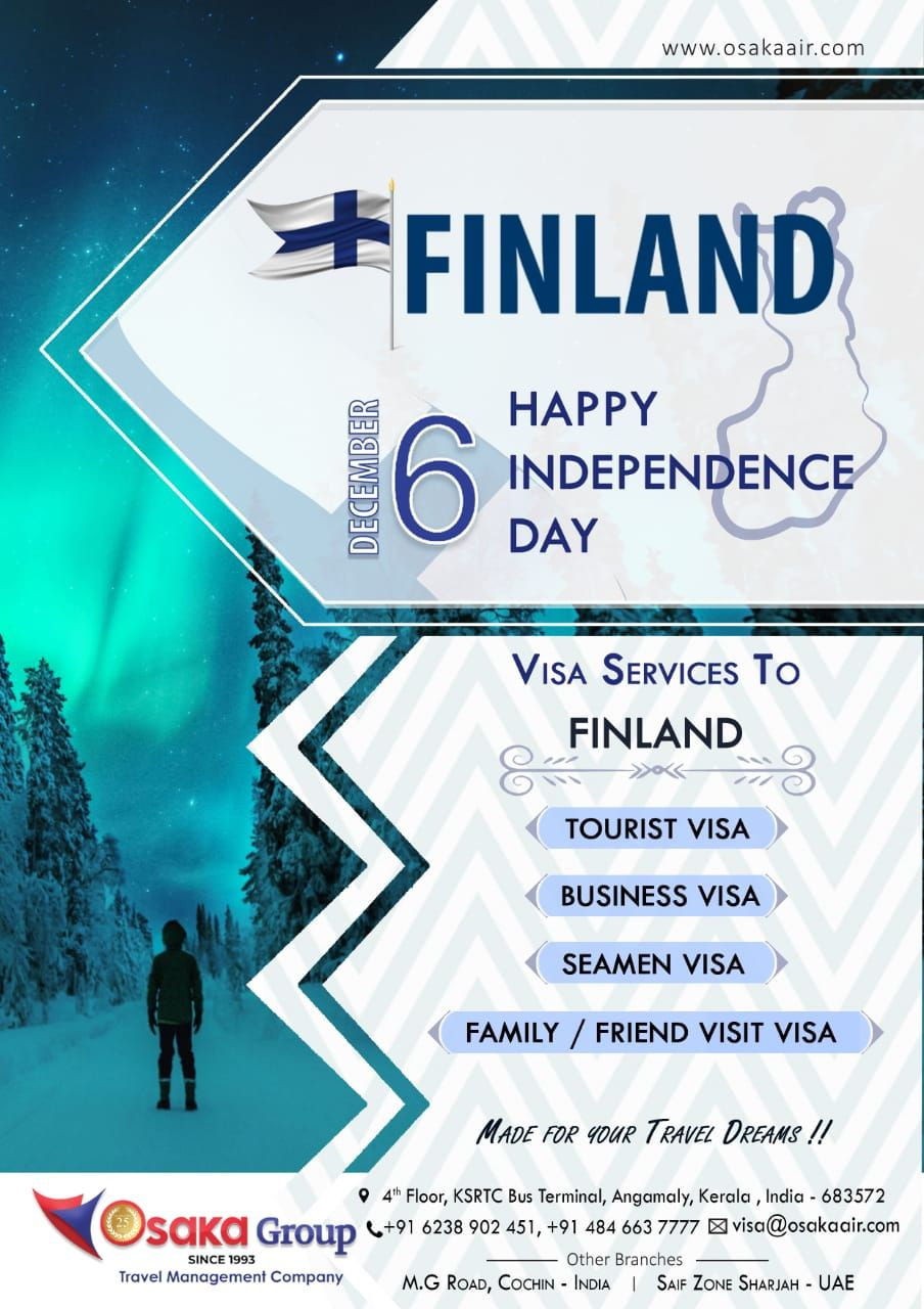 Experience The Attractions Of FINLAND With OSAKA For Visa