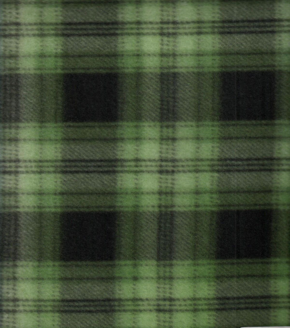 Blizzard fleece fabric green navy plaid products