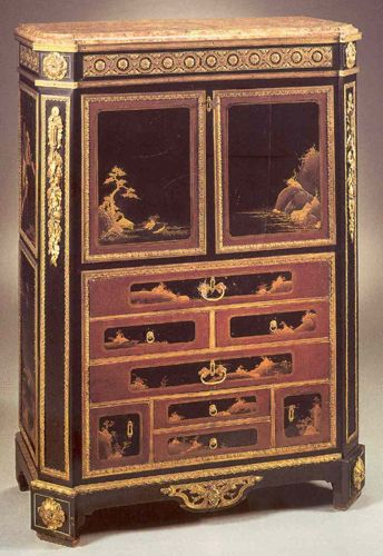 Lacquer Secretary, 18th Century In Louis XVI Style