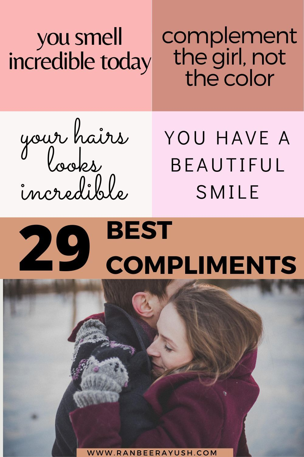 Why guys compliment women