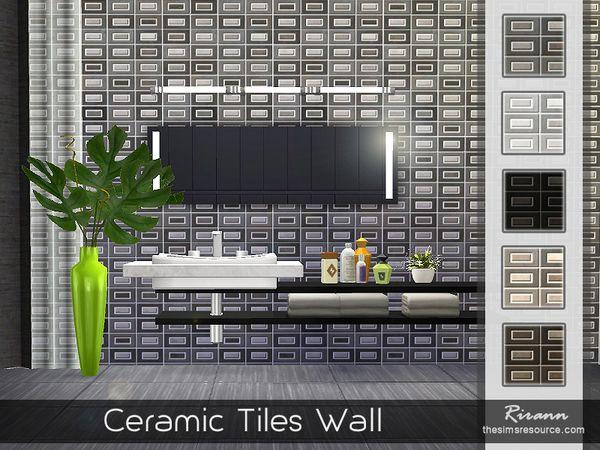 Ceramic Tiles Wall by Rirann at TSR via Sims 4 Updates