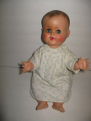 Madame-Alexander-1950-Kathy-Cry-Baby-Doll-Rubber-Squeaker-17-Vinyl-Vintage-Old