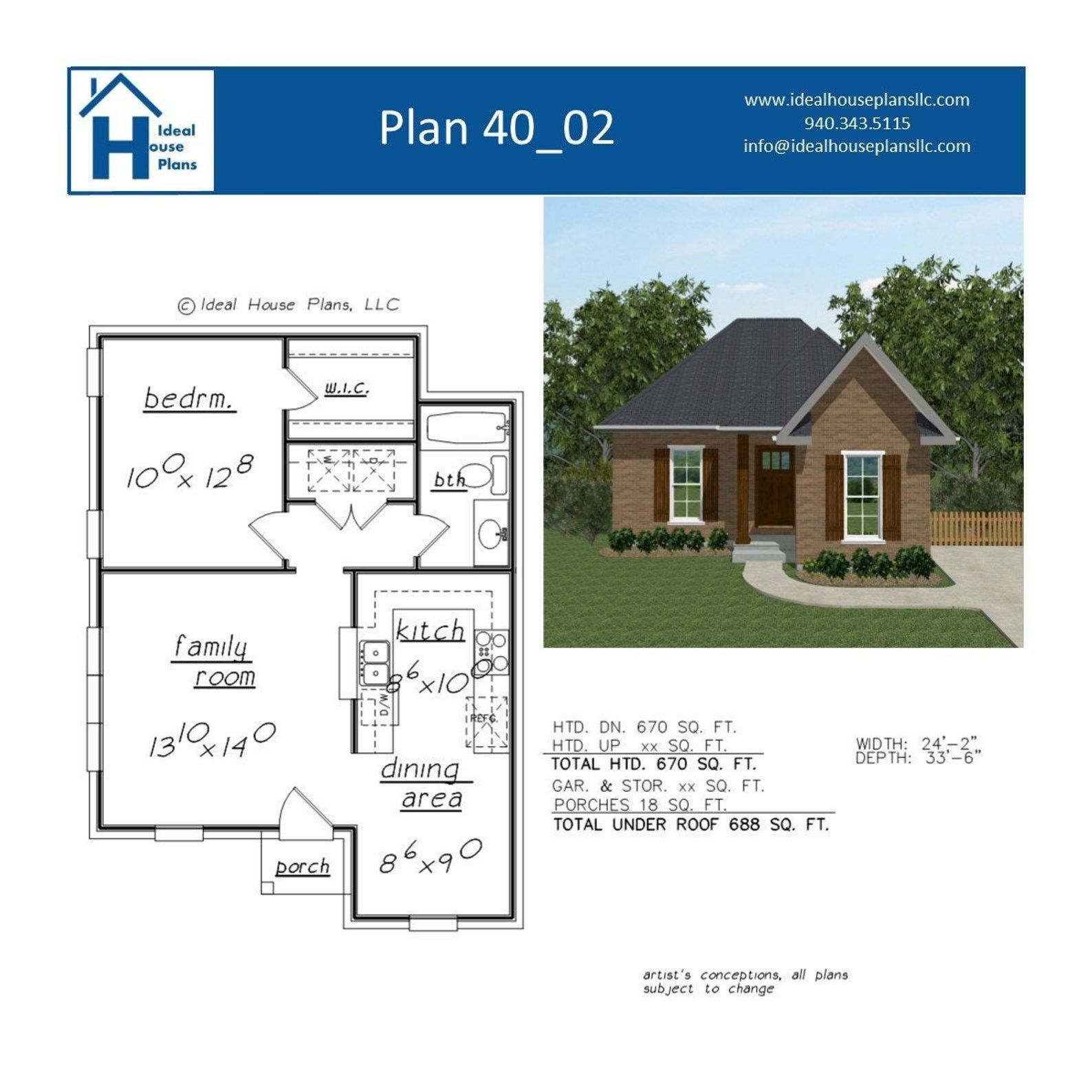1 Bedroom House Plan Guest or In Law Suite Ready to Build Architectural Drawings PDF Instant Download