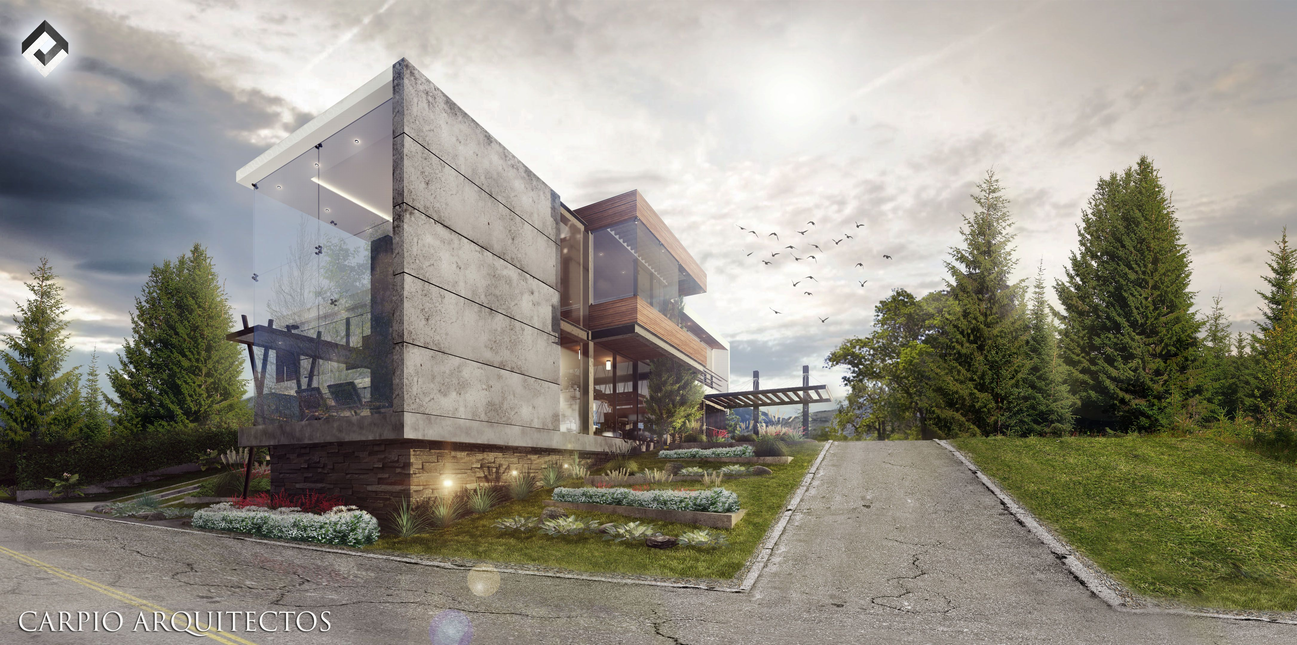 Render vivienda media Arquitectura contemporánea Render lumion Photoshop postproducción / postproduction  PROYECTO_VM_ DISEÑO: Arq. Ismael Carpio F  CARPIO_Arquitectos Cuenca_Ecuador