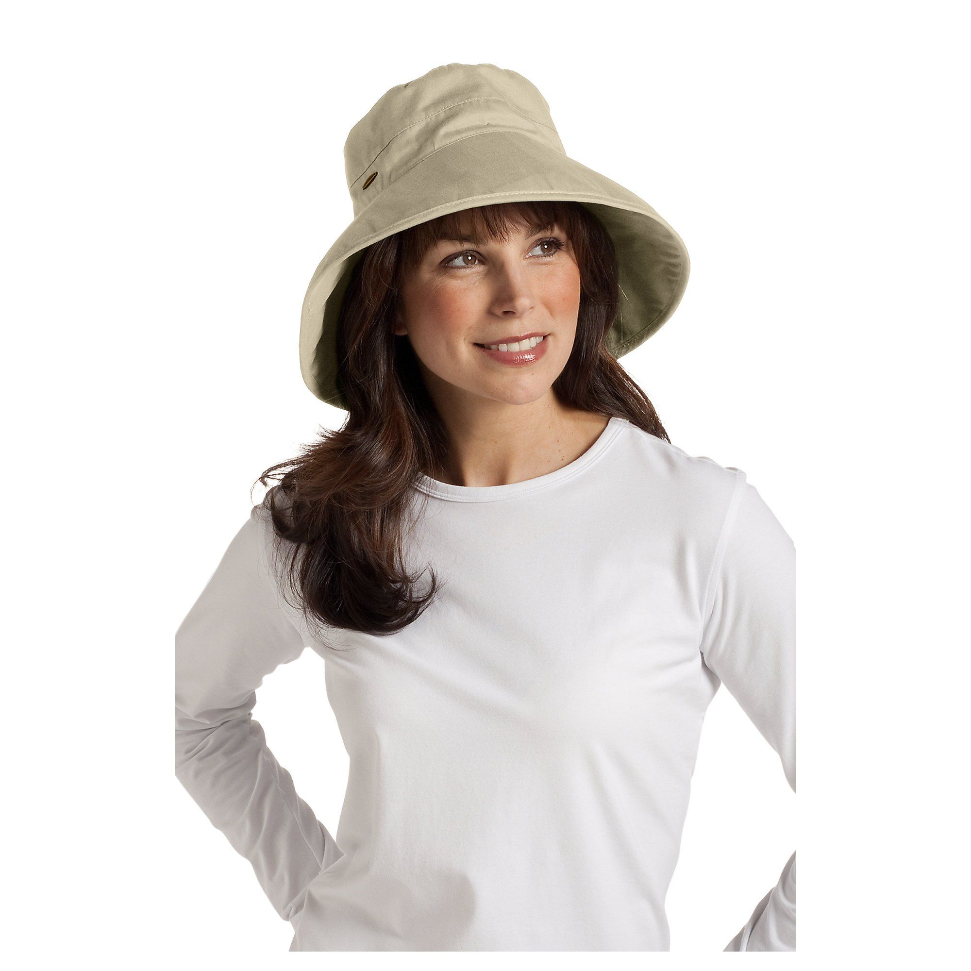 466e0aa12b220 Coolibar UPF 50+ Women s Everyday Cotton Sun Hat (One Size - Tan) at Amazon Women s  Clothing store  Scala Hats