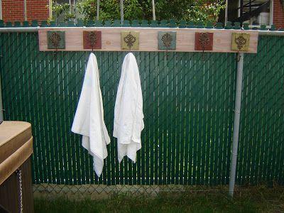 Pool Towel Hooks Outdoor Towel Rack Pool Towels Outdoor Pool Decor