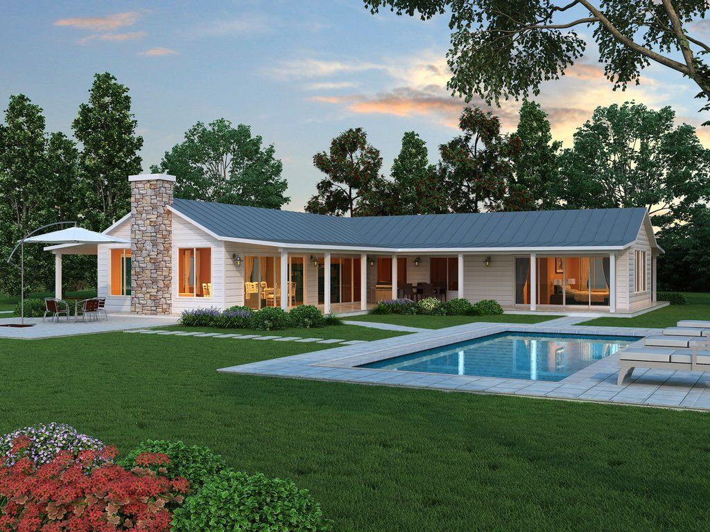 Ranch Style House Plan 2 Beds 2 5 Baths 2507 Sq Ft Plan 888 5 Ranch Style House Plans Farmhouse Style House Farmhouse Style House Plans
