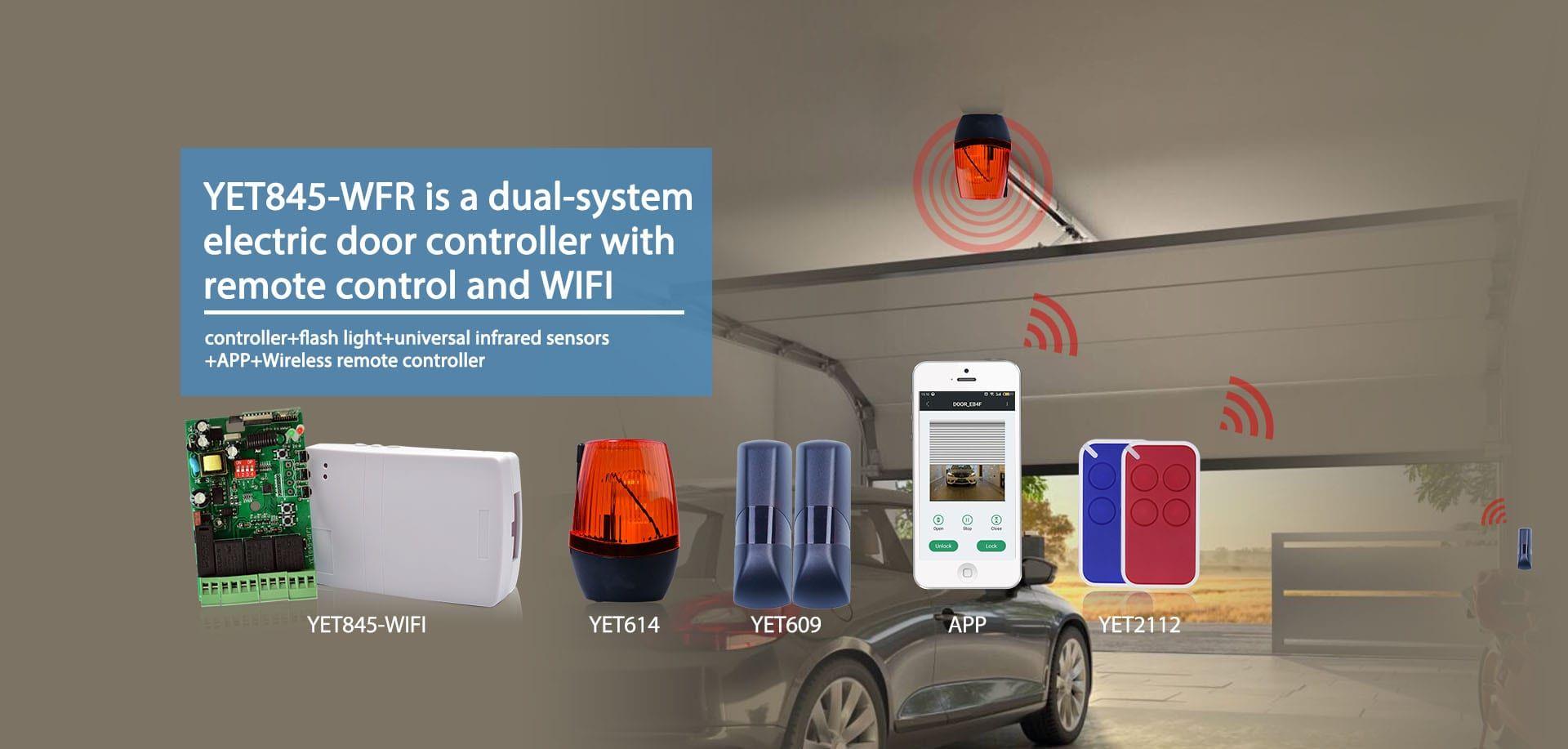 Garage Door Control System Smart Home Alarm System Remote Control Wifi