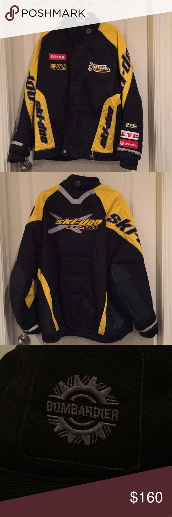 Lightly Used Ski Doo Men S Snowmobile Jacket With Images Jackets Clothes Design Fashion