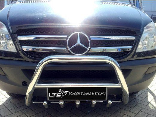 Mercedes Sprinter W906 Stainless Steel Chrome Nudge A Bar Bull