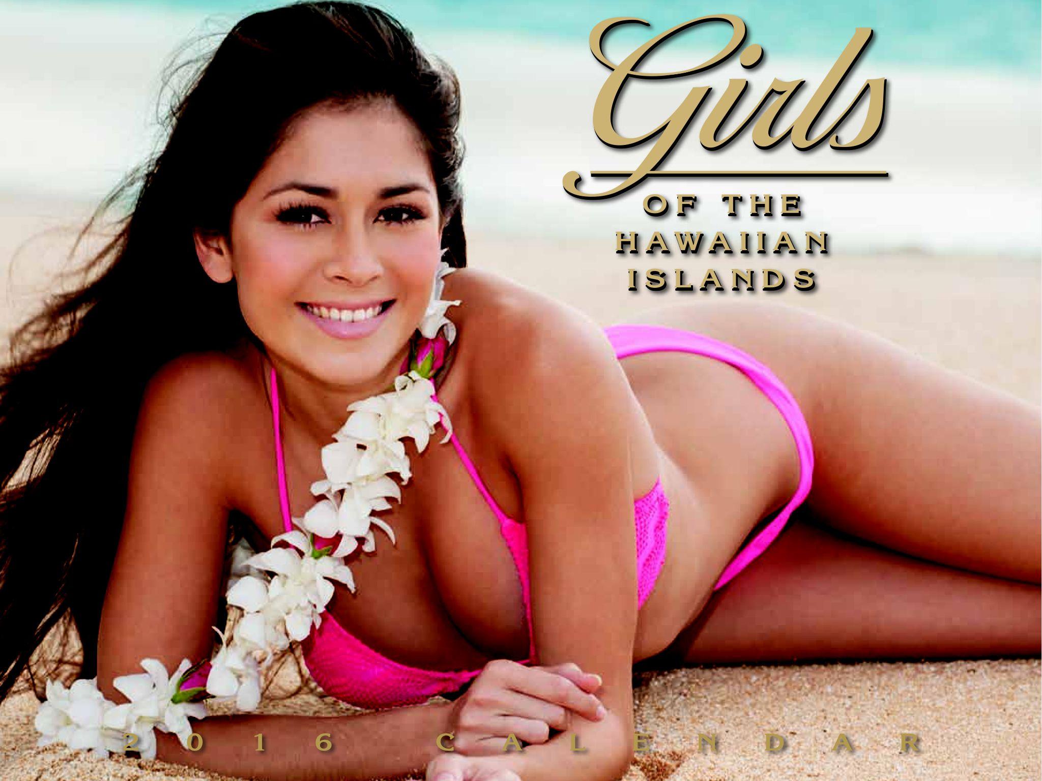 Hawaian bikini beach calanders