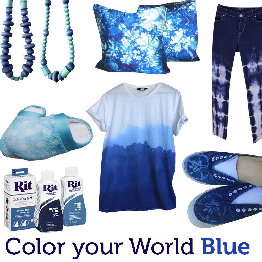 Color Your World Blue With Rit Dye My Kind Of Cloths In 2018