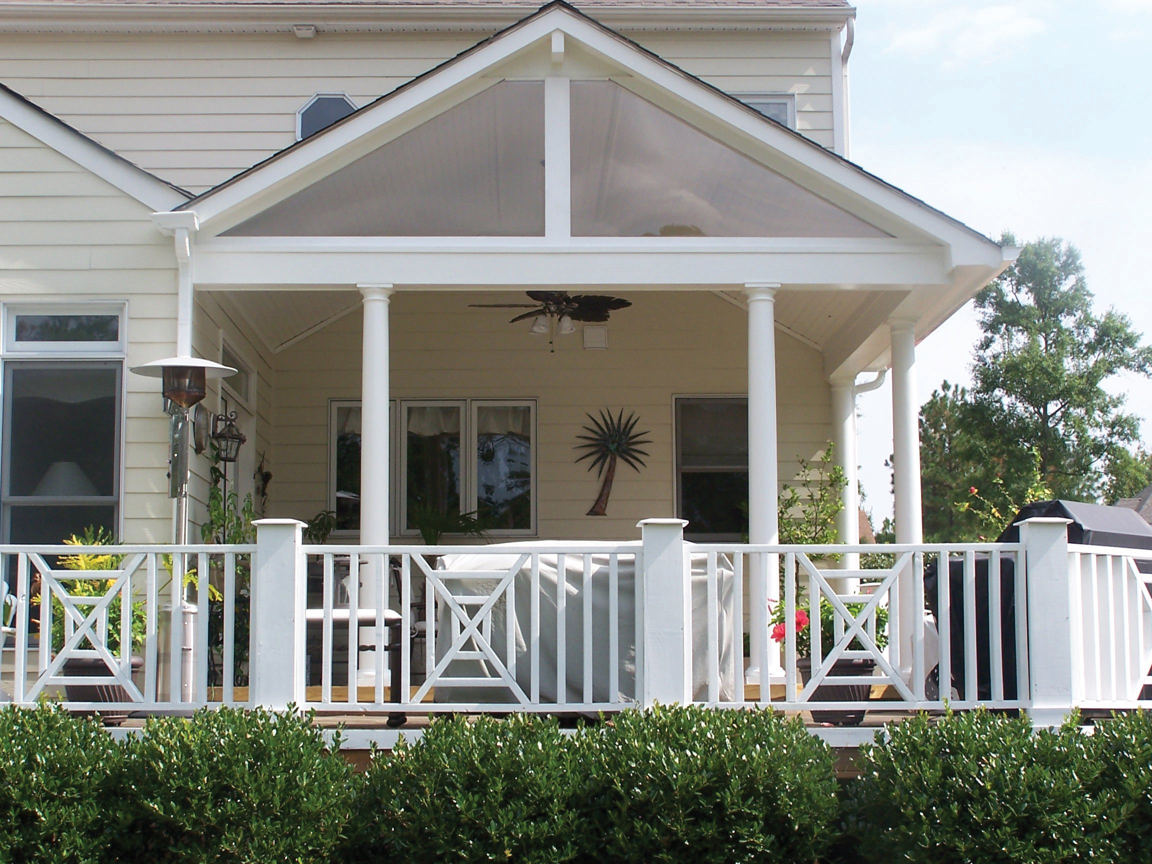 Back porch roof ideas - Covered Deck Addition Design This Gabled Roof Lends Clean Design Lines In This Covered Porch