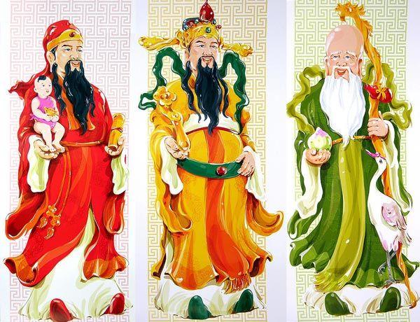 เก าเล าไป ใหม บอกมา สามเทพเจ าดาวมงคล ฮก ลก ซ ว 1 Chinese Picture Feng Shui Symbols Good Luck Symbols