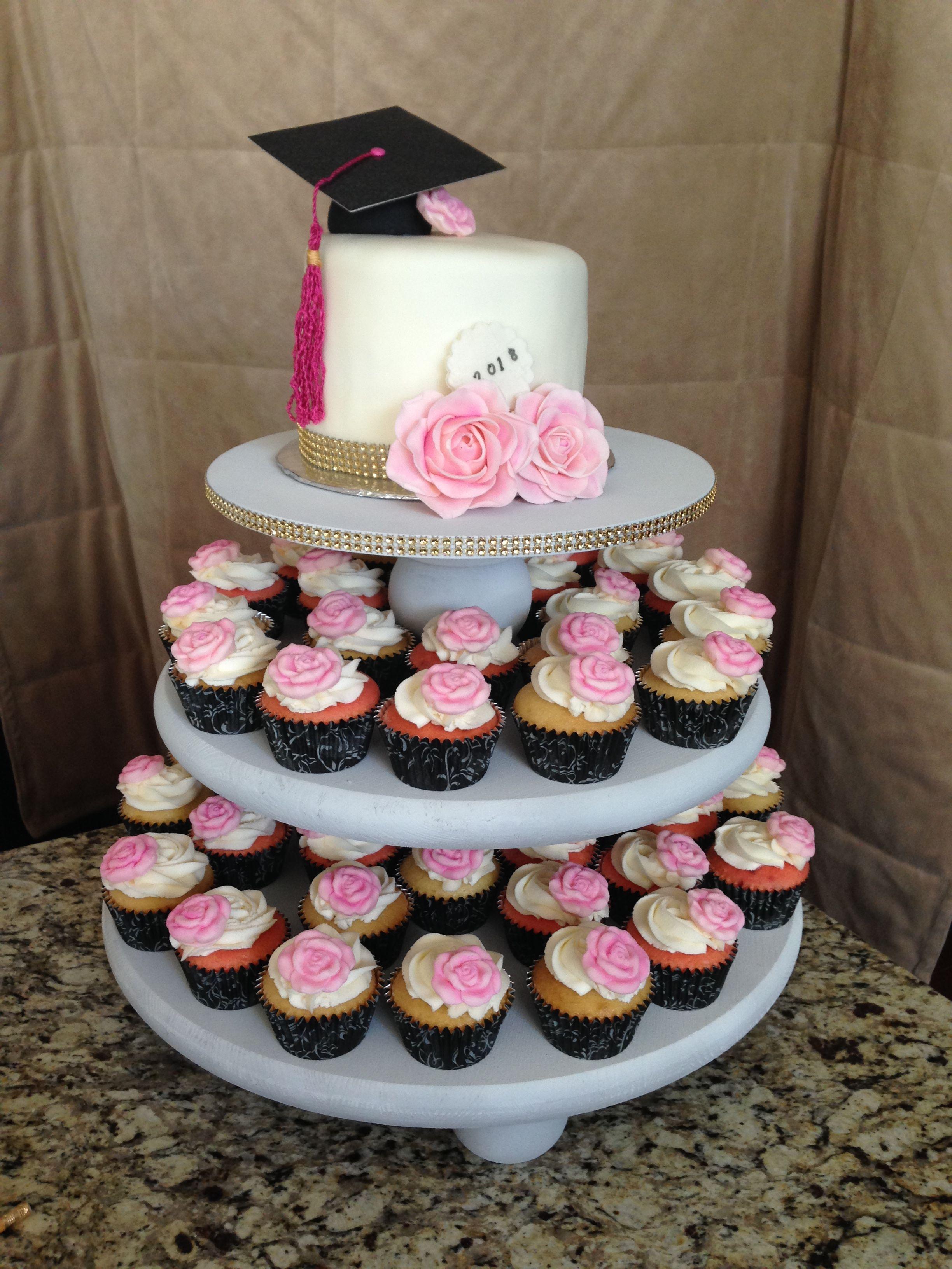 Girls Graduation Cake Cupcakes Roses Graduation Graduation