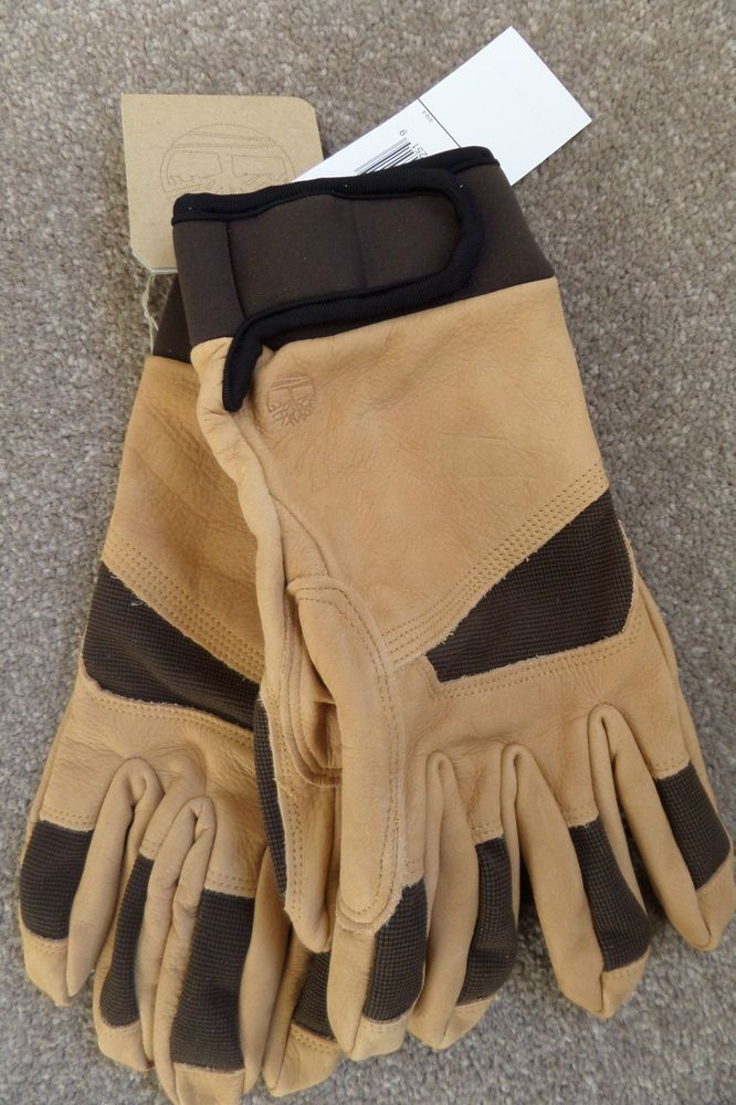 bca4eacff56 GENUINE Men s TIMBERLAND COWHIDE Leather Boot Gloves Driving J1026-754 Size  M  Timberland   ...