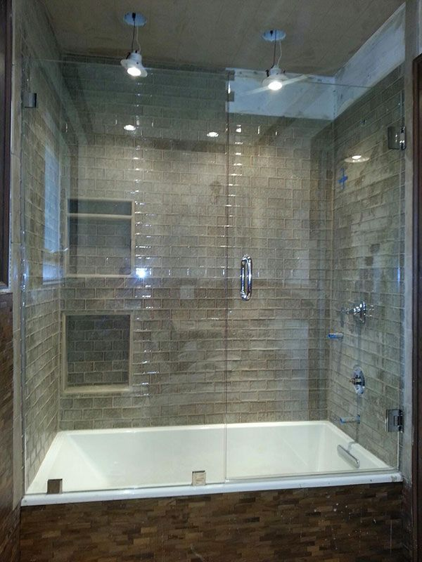 Frameless glass shower and tub enclosure near Atlanta, Georgia ...
