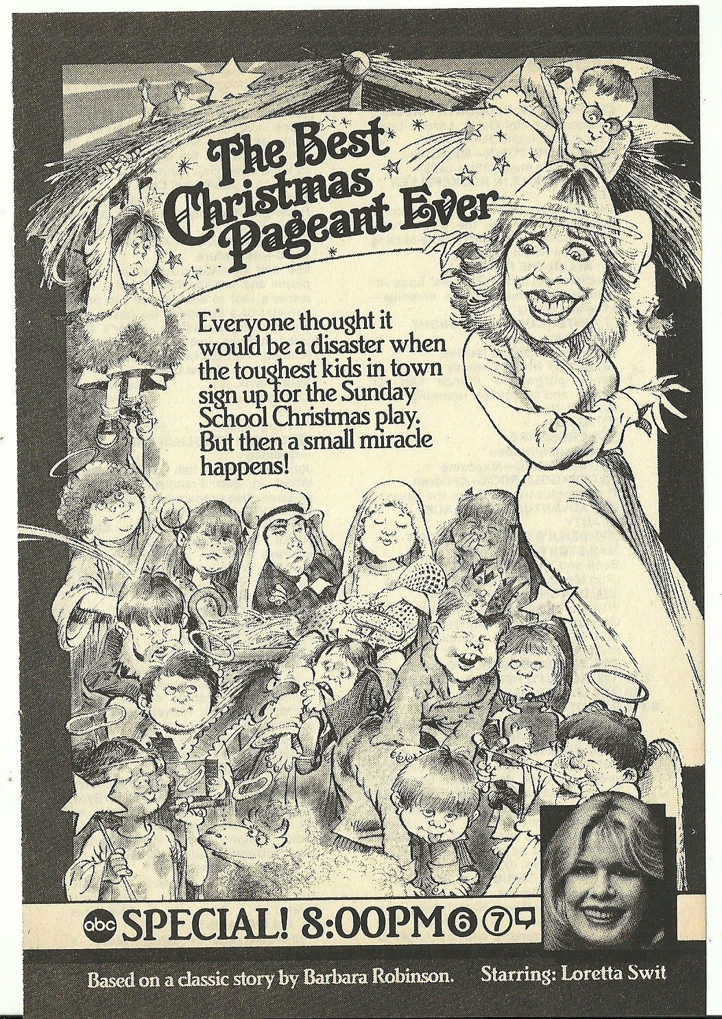The Best Christmas Pageant Ever 5 X 7 Magazine Ad