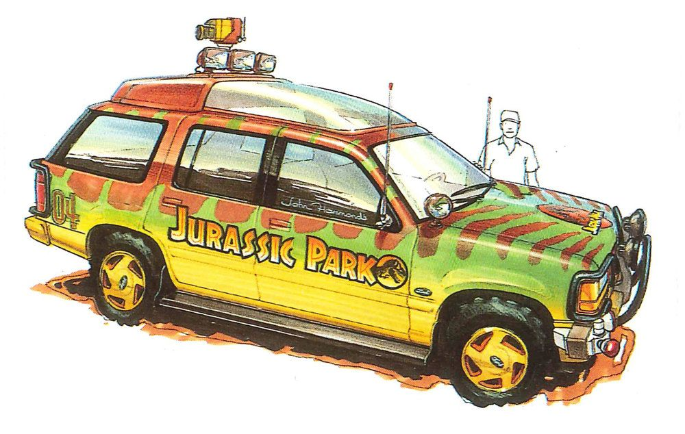 Jeep Explorer Concept By John Bell With Images Jurassic Park