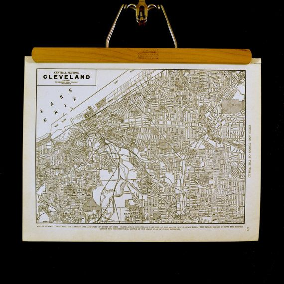 Hey, I found this really awesome Etsy listing at https://www.etsy.com/listing/209015660/cleveland-1940s-map-antique-cleveland