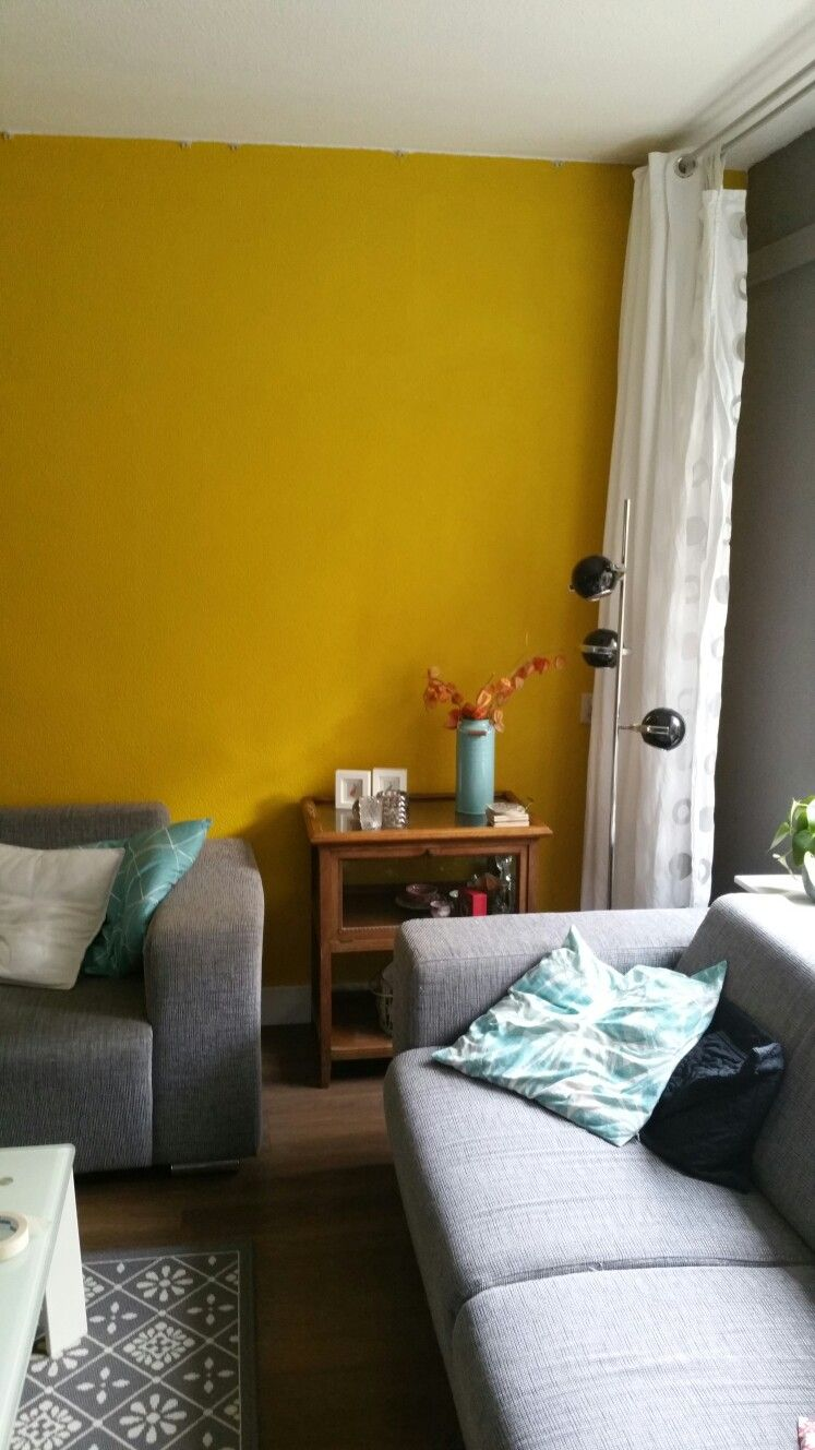 New colour on the wall#oker#yellow | Inrichting | Pinterest | Walls ...