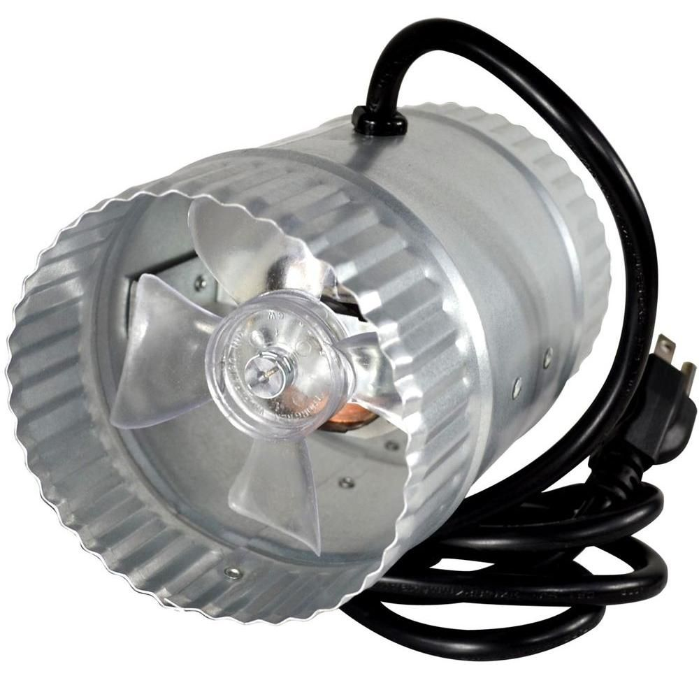 Suncourt Inductor 4 In Corded In Line Duct Fan Db204c The Home Depot Duct Galvanized Steel Fans For Sale