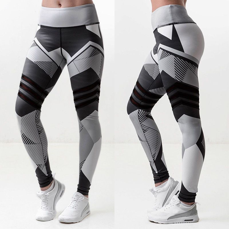 Women Yoga Fitness Leggings Running Gym Stretch Exercise Sports Pants Trousers