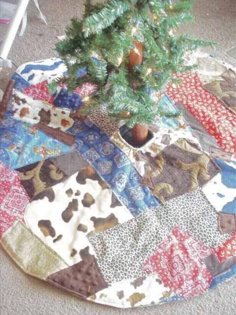 Rodeo Cowboy Christmas Custom Holiday Crazy Quilt Patchwork Western