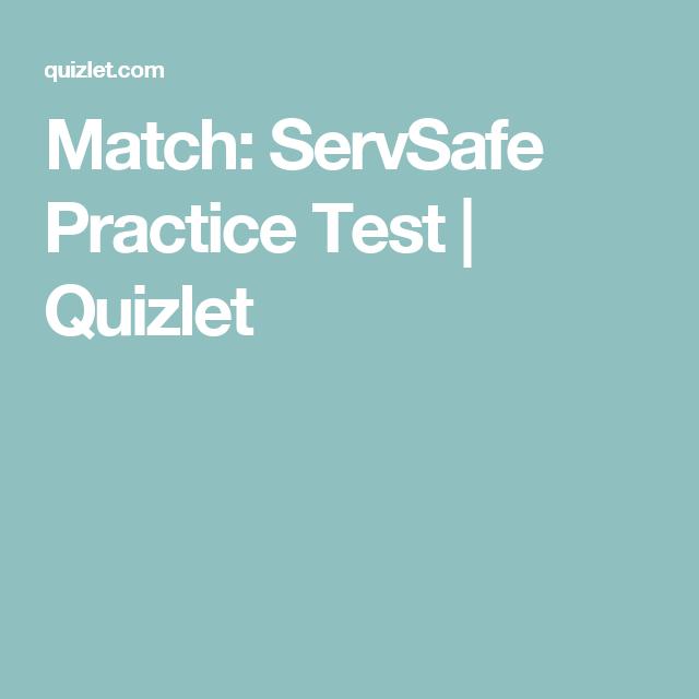 match: servsafe practice test | quizlet | servsafe | pinterest