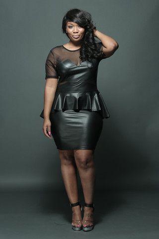Plus Faux Leather Sheer Dress Fondren S Fashion House Sheer Dress Fashion Plus Size Beauty